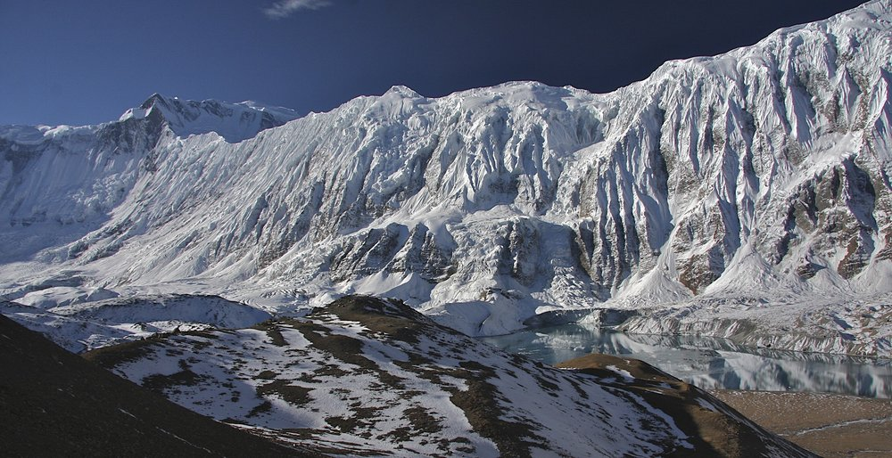 From the left: Roc Noir, Annapurna I, Great Barrier and the Tilicho Lake