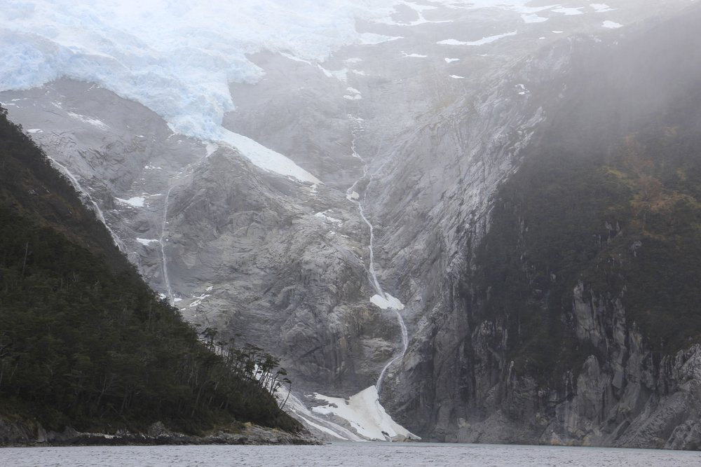 The glaciers of the Tierra del Fuego