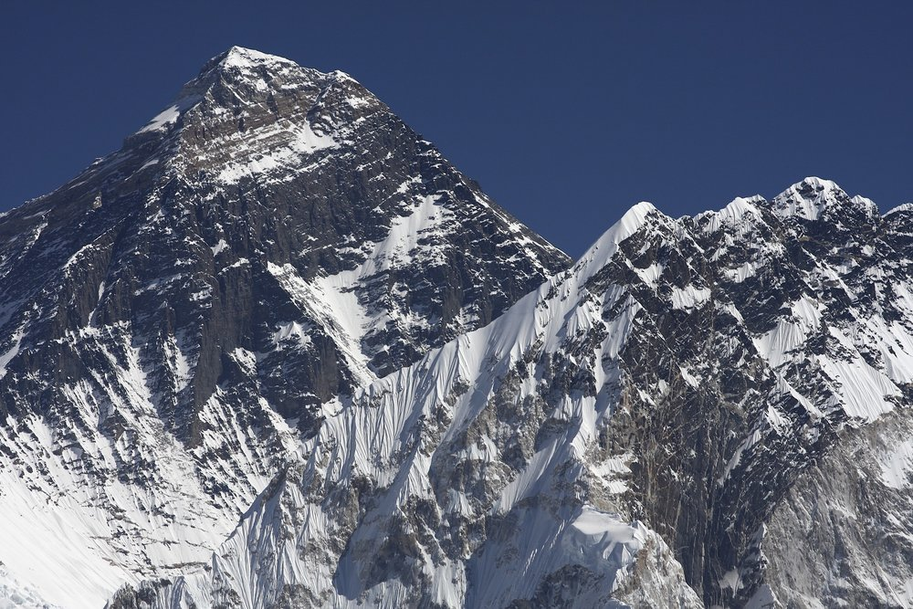 Mt. Everest with South summit clearly visible.