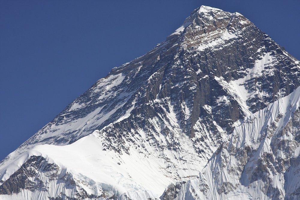 North side (Tibet) and north ridge of Mt. Everest