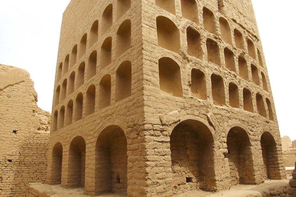 The Buddhist   stupa of Gaochang city ruins.