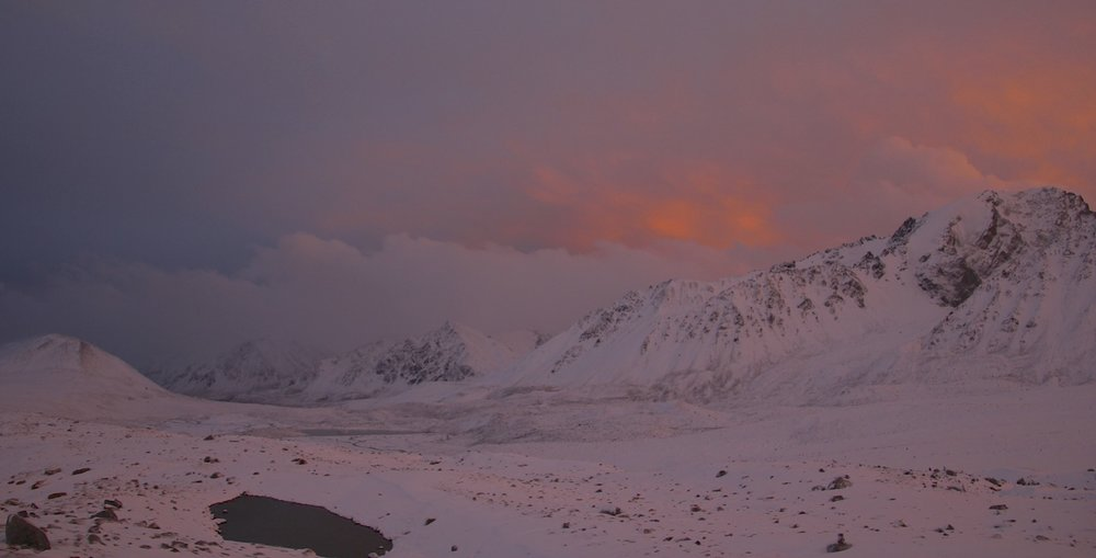 After the storm on the Potiamiin Glacier