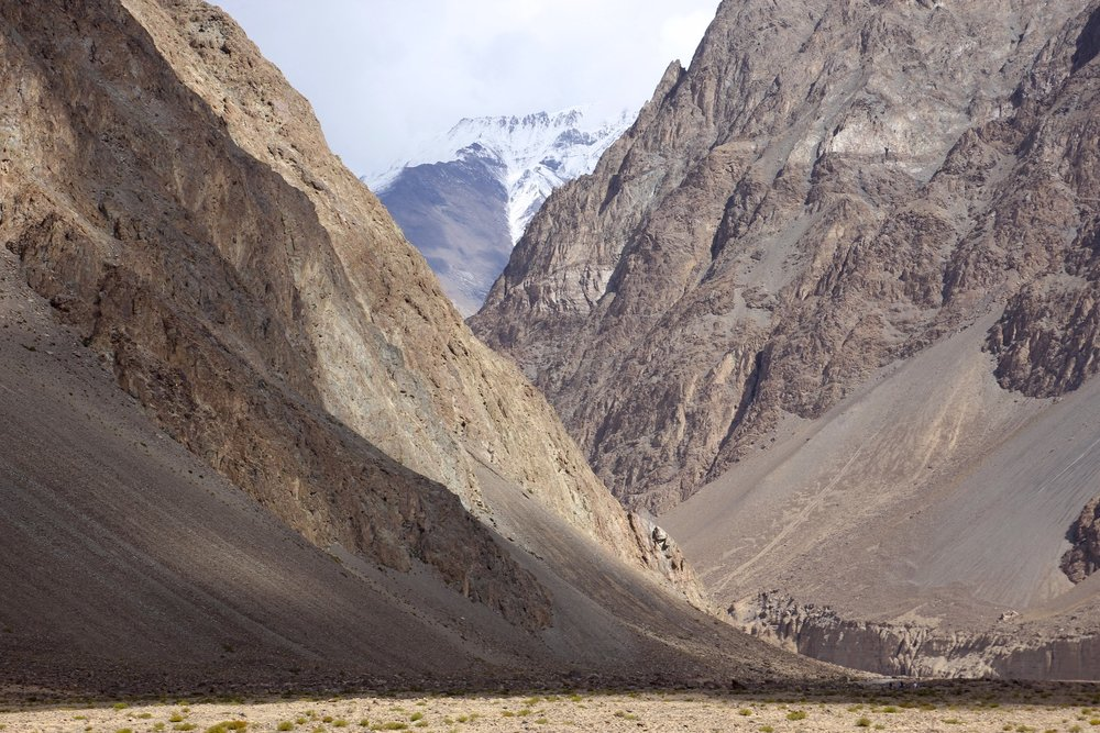 Start of our trek - the north Karakoram mountains
