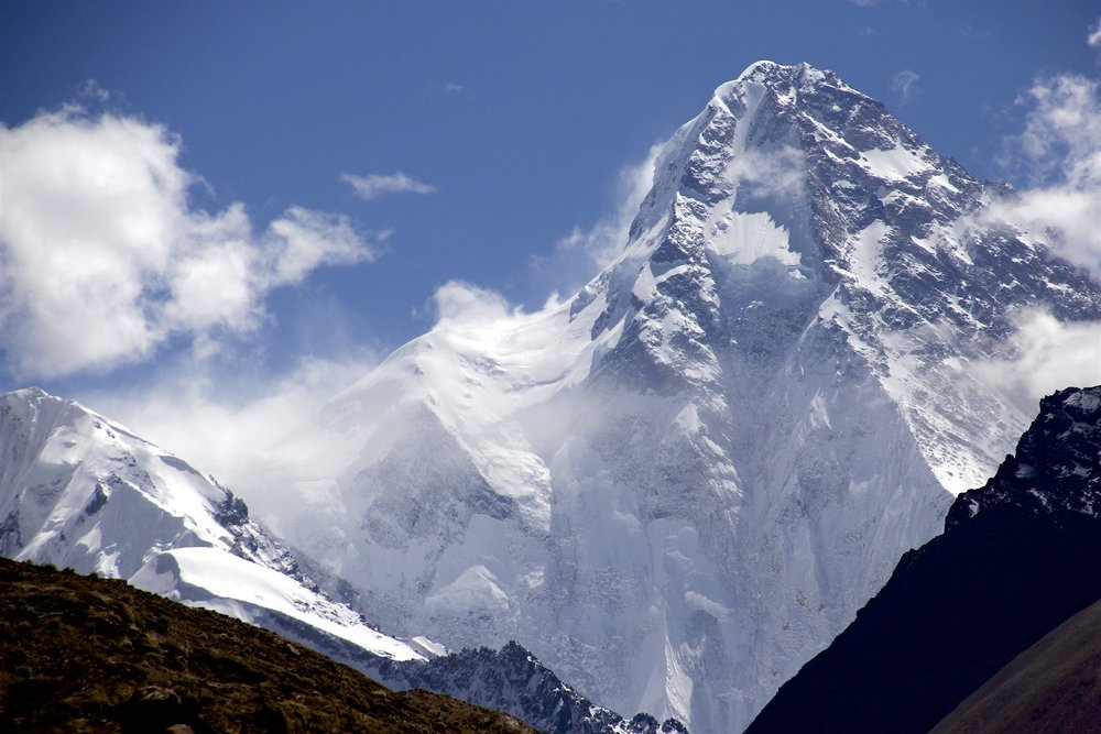 K2 - 4km of rock