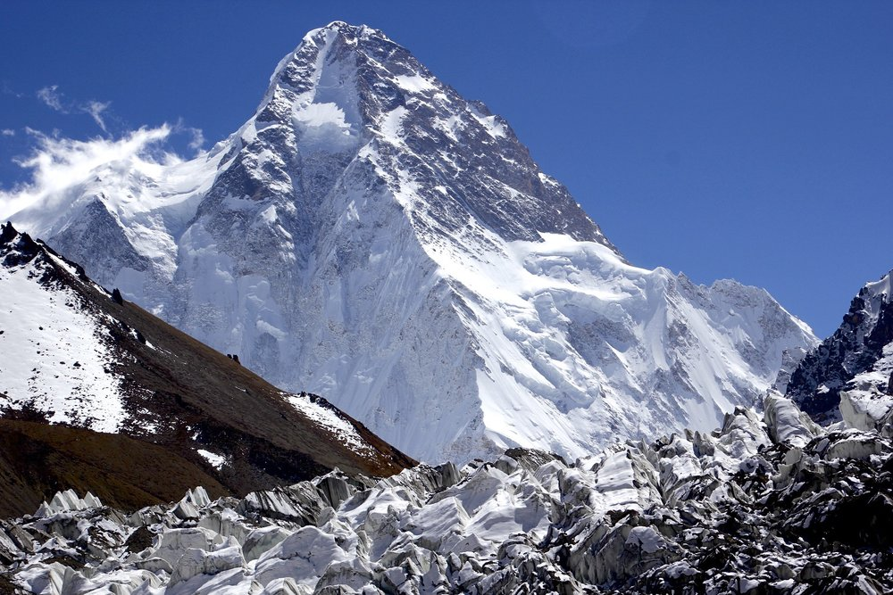 K2 and a side glacier