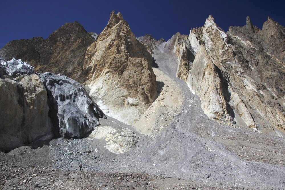 Mountains along the K2 Glacier