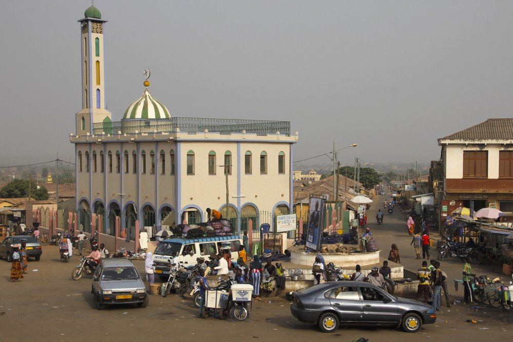Main square in Sokode, Togo