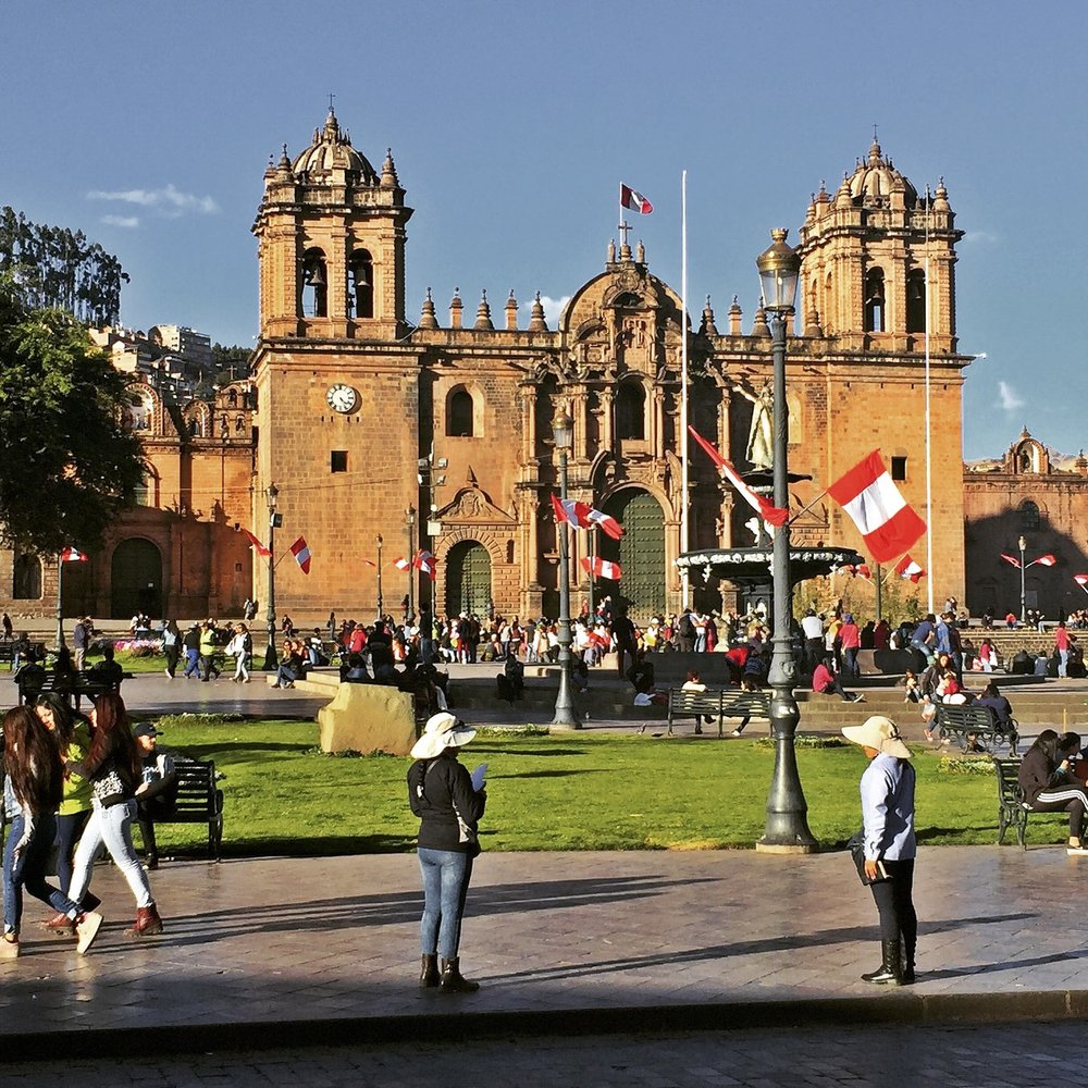 The Cusco Cathedral was built 1560 on the lot of Kancha, the palace of Inca Wiracocha. The actual Cathedral was declared built in 1664, more than a century after.