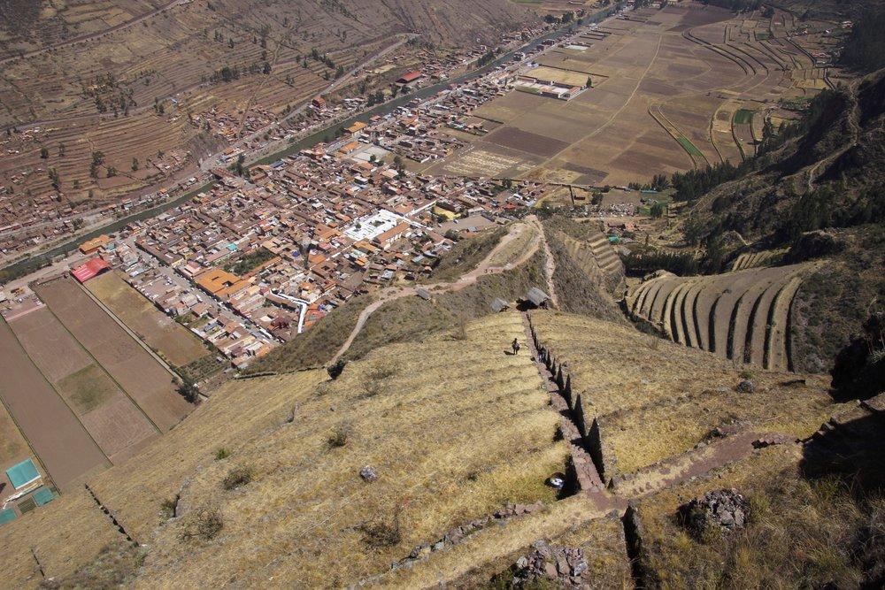 Pisac seen from the ruins