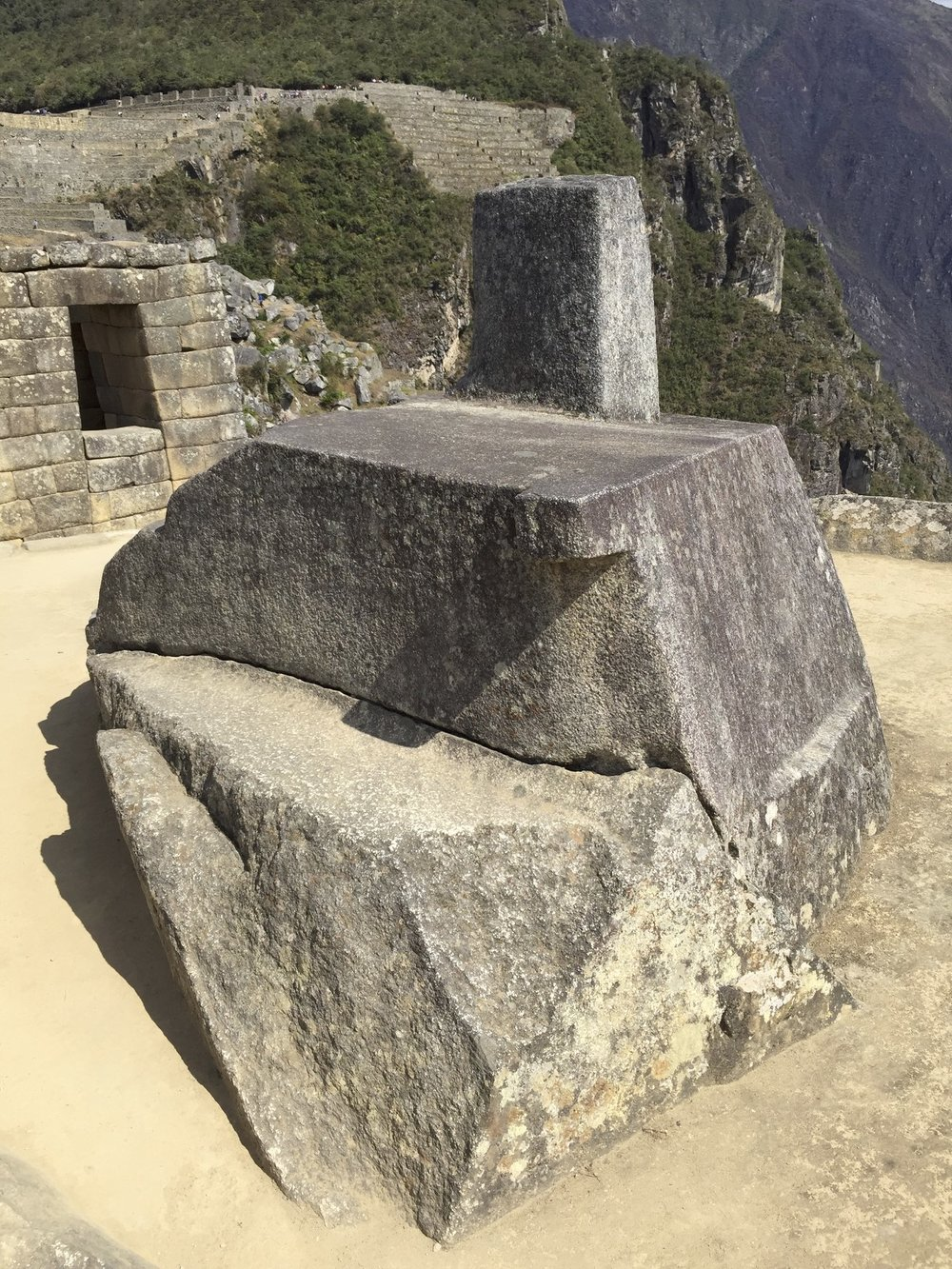 Intihuatana - the Hitching Post of the Sun - an Astronomical clock of the Inca or a sacrificial altar?