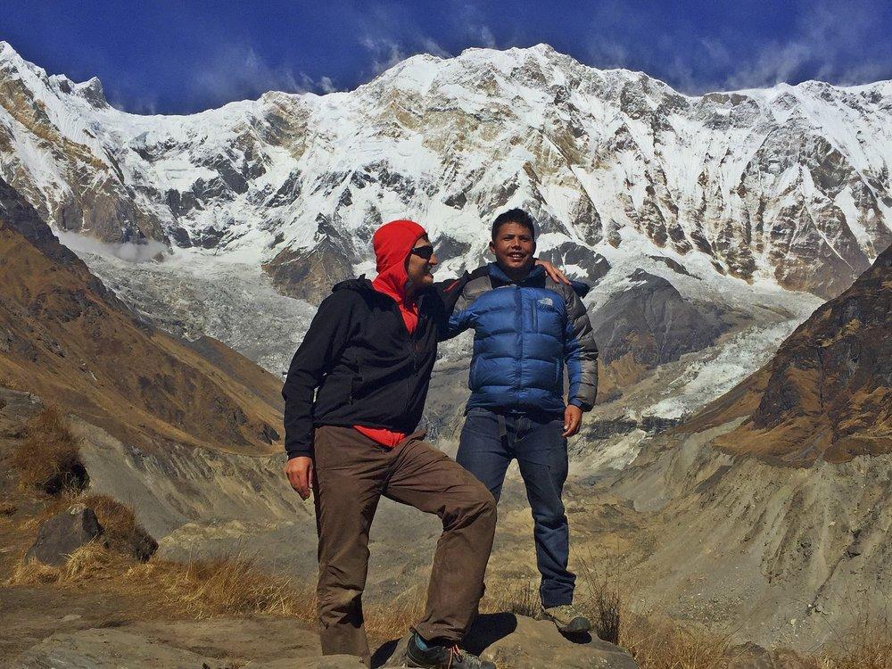 It was great to do this trek with Kumar - we shared so many adventures