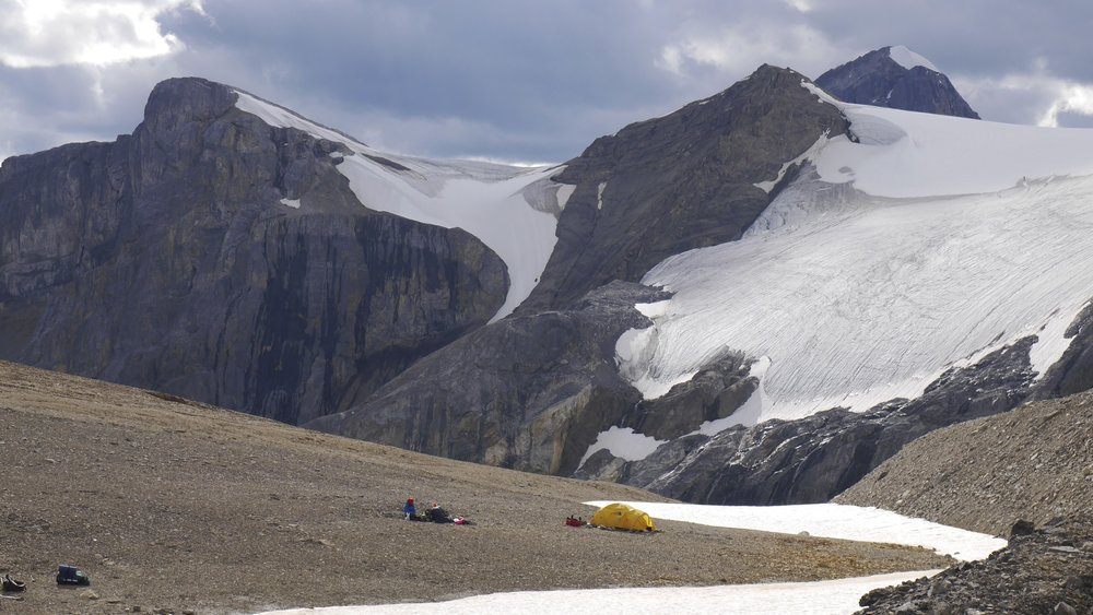 The Basecamp for Mt. Brazeau