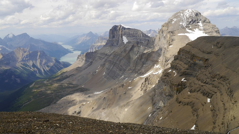 Maligne Lake, Mt. Warren and Mt. Brazeau