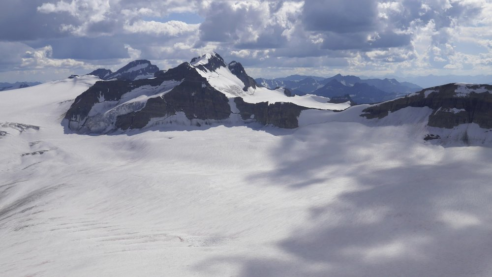 Wapita Icefield from Mt. Rhonda