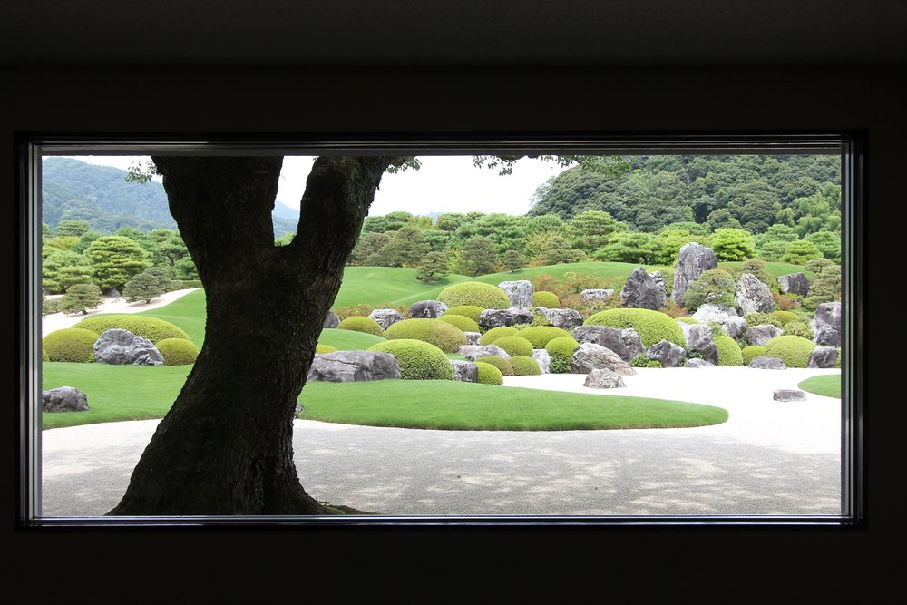 The  Adachi Museum of Art   opened in Yasugi, Shimane Prefecture in 1970.  It has a top rated Japanese garden.  The museum incorporates nature into its exhibit where the elegant garden framed by strategically placed windows is really an art display.