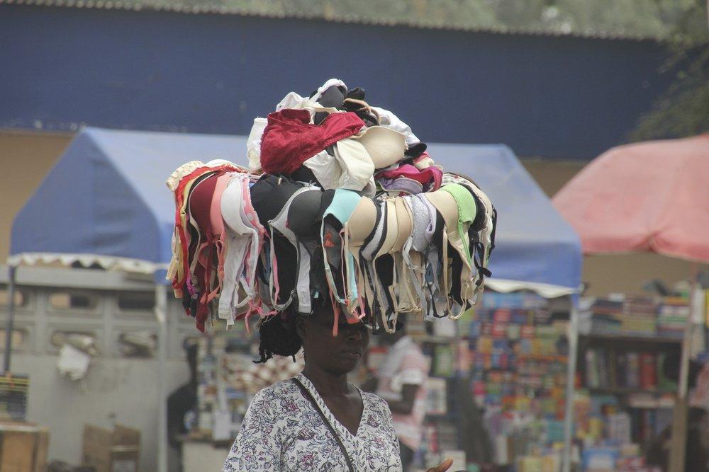 Street vendor in Accra