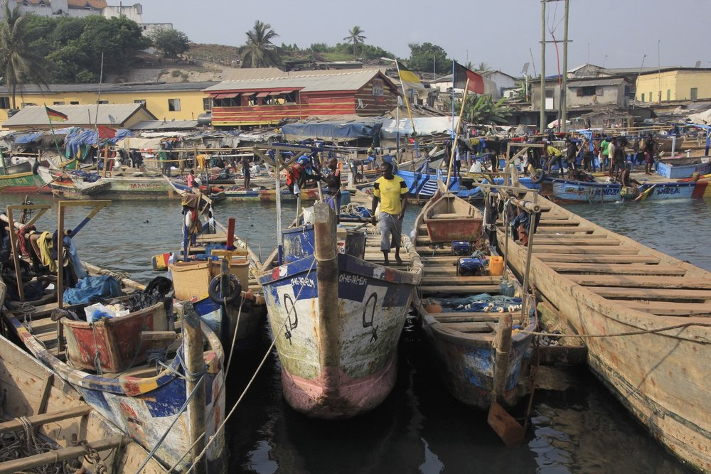 Elmina fishing port