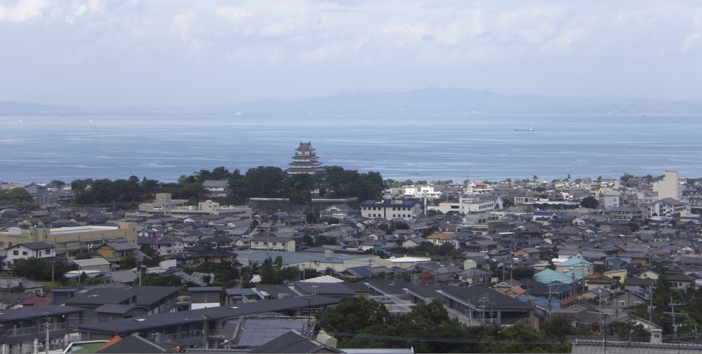 Shimabara Castle and the city of Shimabara