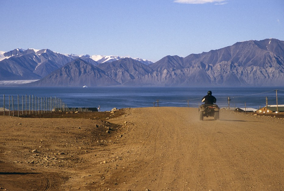 Pond Inlet with the Bylot Island in the distance - our destination