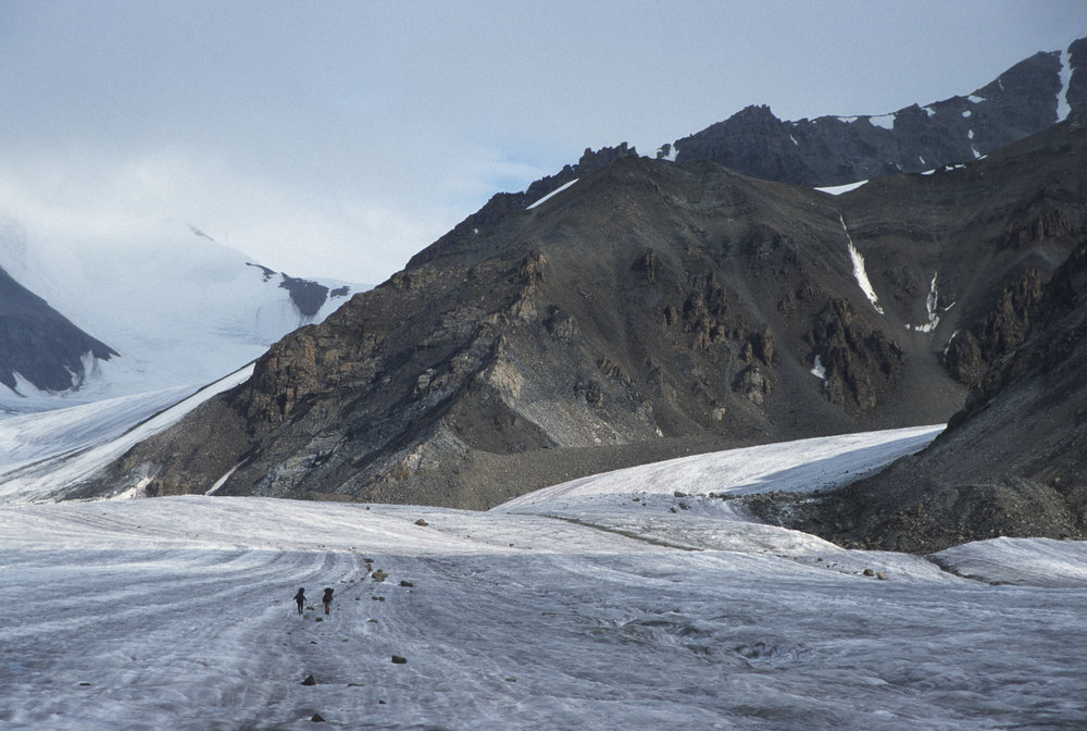 Massive glaciers and unclimbed peaks