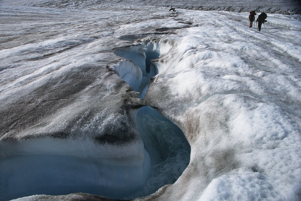 Glacier rivers- deadly if you fall in