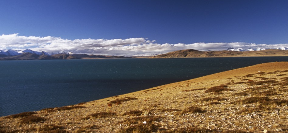 Lake Rakshastal at 4,590m which is connected to Lake Manasarovar