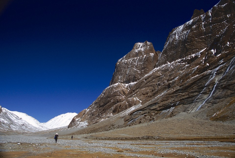 Mt. Kailash on the right. The beginning of the outer Kora.