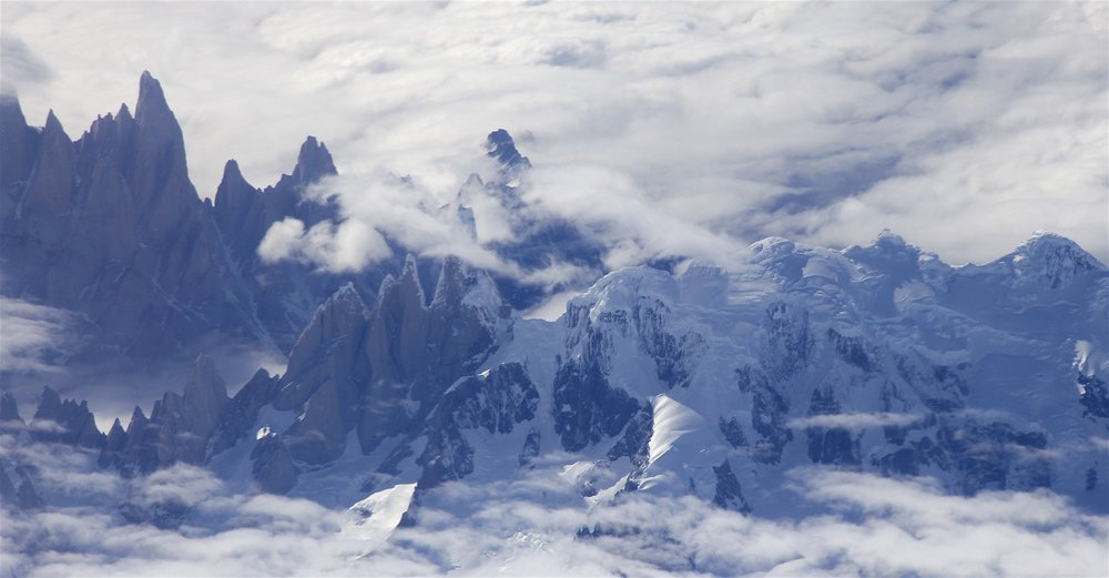 Cerro Torre group and the Cirque de Los Altares