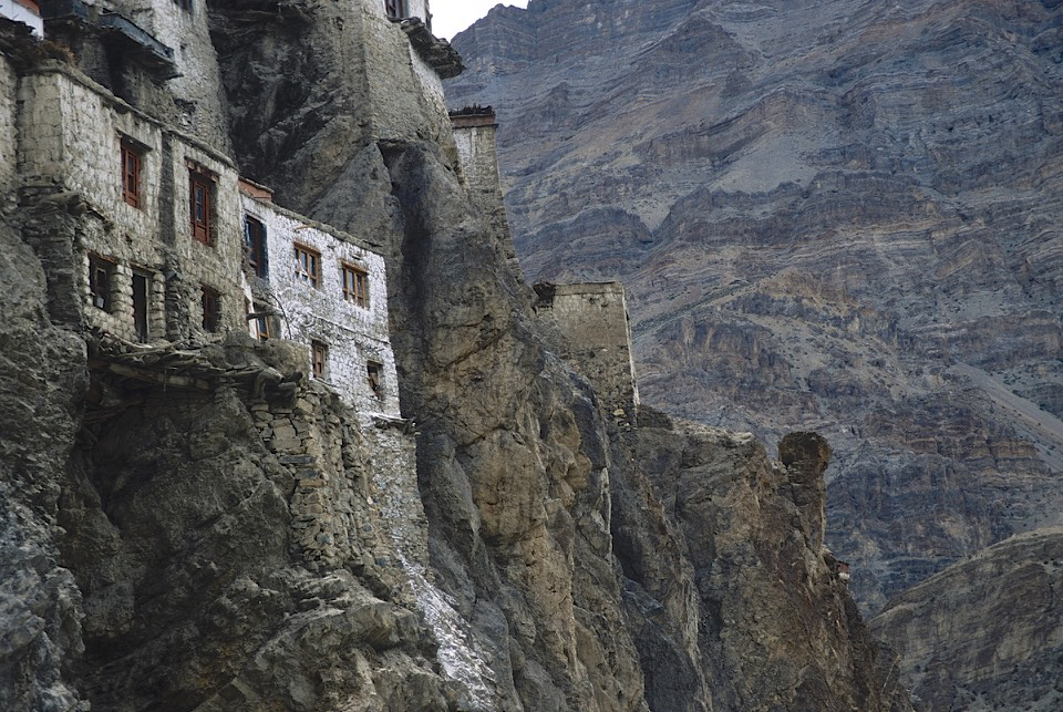 The Phuktal Gompa is literally built into the mountain.