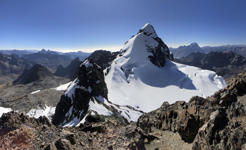 Pequeno Alpamayo 5,434m - a fine isolated peak