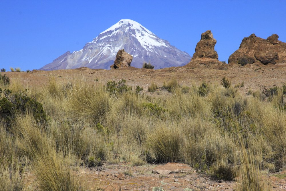 Sajama and interesting volcanic formations of the Altiplano
