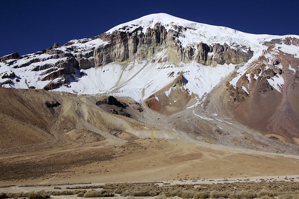 The base camp of Volcan Sajama at 4,800m