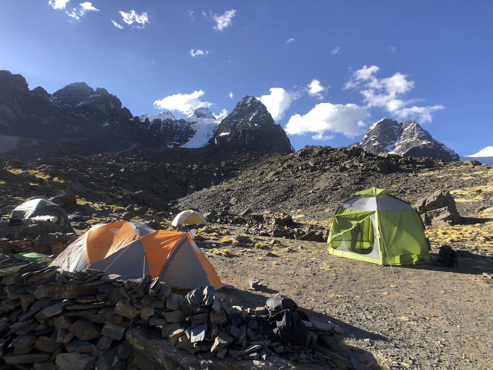 Basecamp for Pequeno Alpamayo and Condoriri