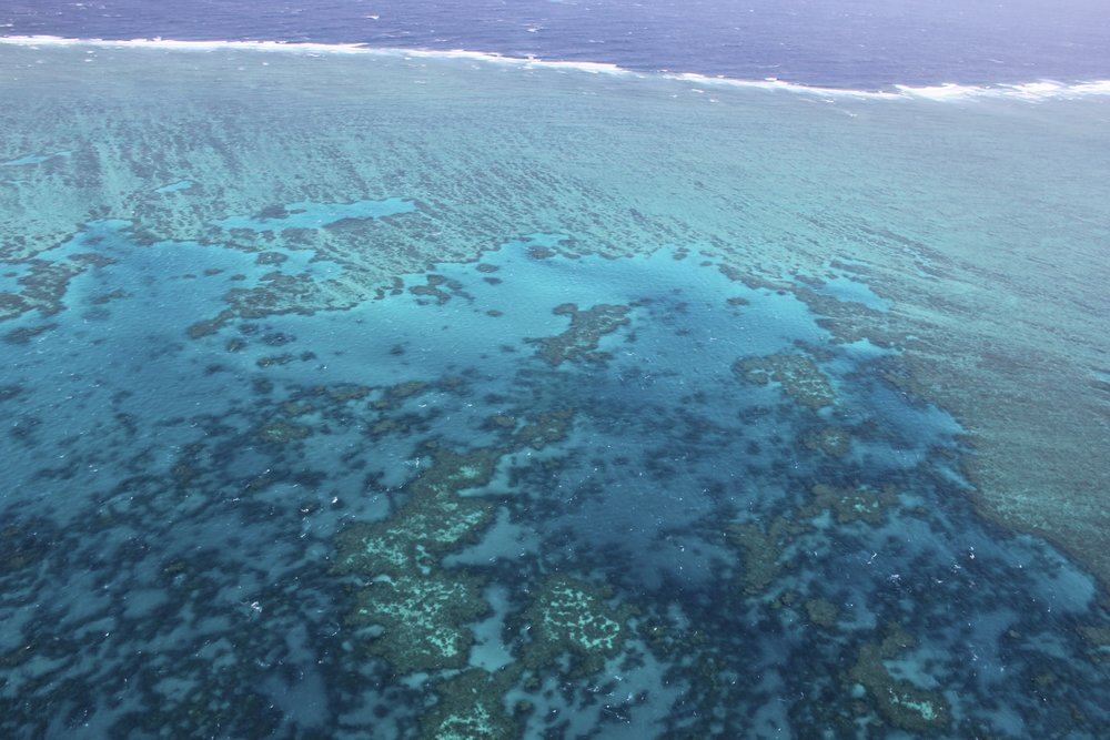 The huge Great Barrier Reef