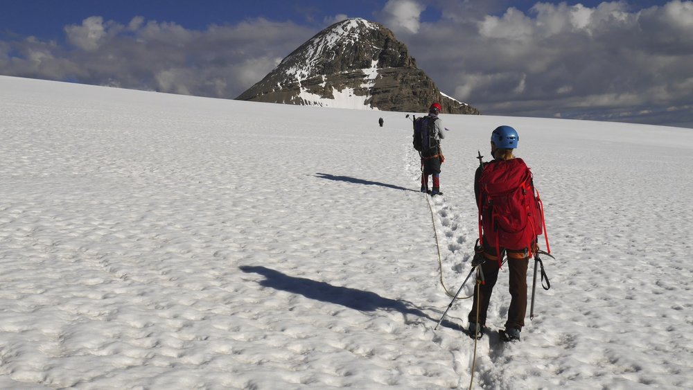 On the Brazeau Glacier, approaching Mt. Brazeau