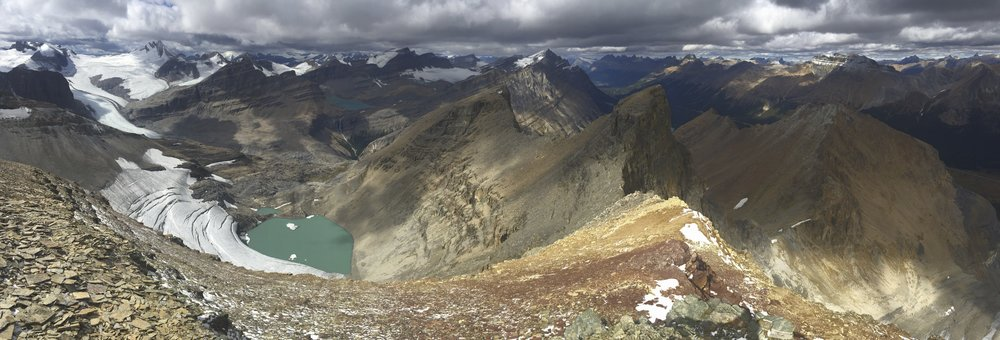The Peyto Glacier from Mt. Jimmy Simpson