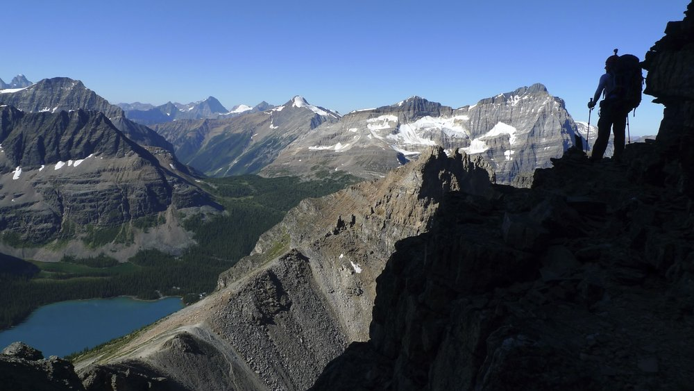 On Mt. Huber, Lake Ohara below