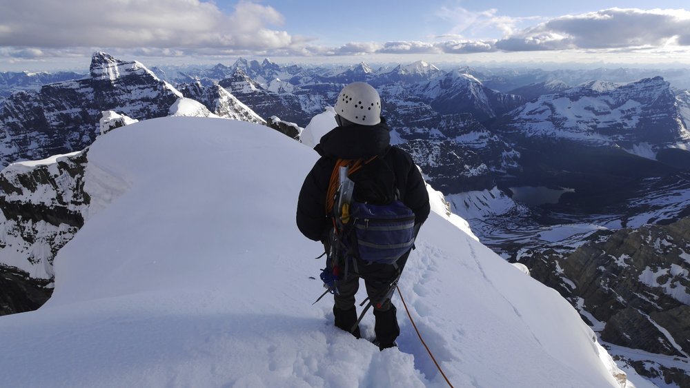 Summit ridge of Mt. Lefroy