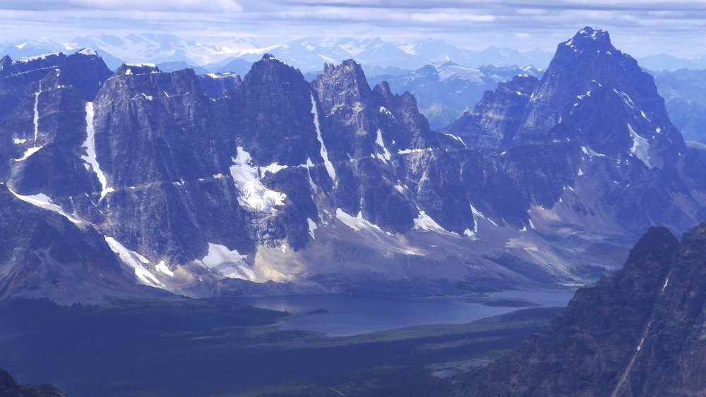 The Ramparts from the summit of Mt. Edith Cavell