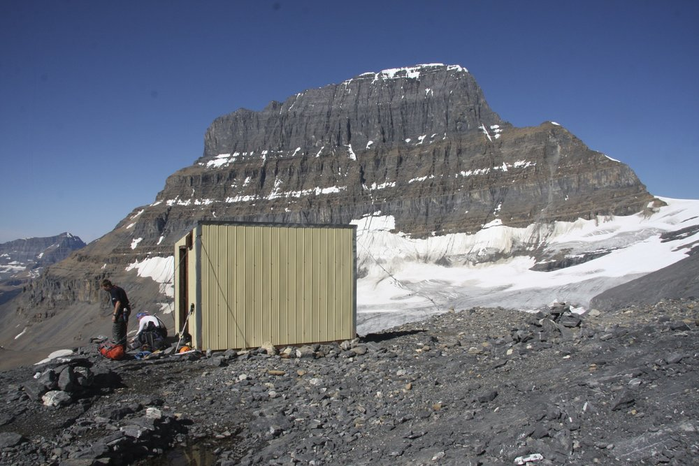 The ACC hut and Mt. Alberta