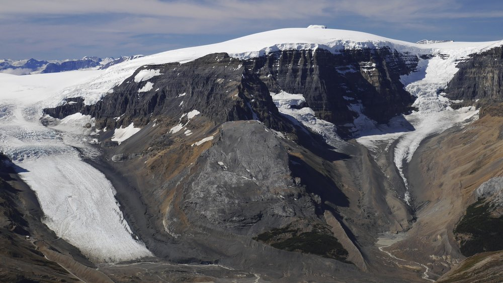 Athabasca Glacier and Snow Dome from Nigel Peak