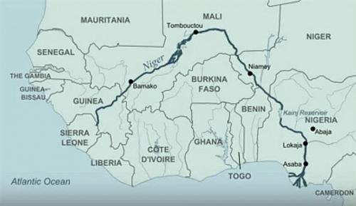 Our route was from Timboctou to Bamako