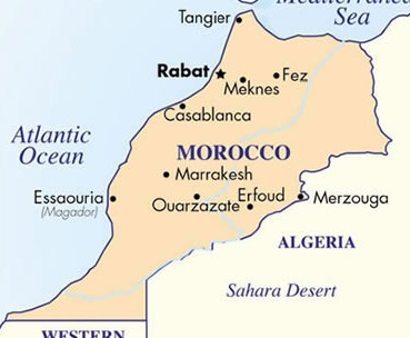 Our route was from Marrakesh to Essaouria to Ourzazate to Meknes to Fez and finally Casablanca