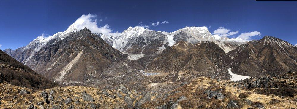 Langtang Lirung from the basecamp for Ganjala Pass at 4,300m.