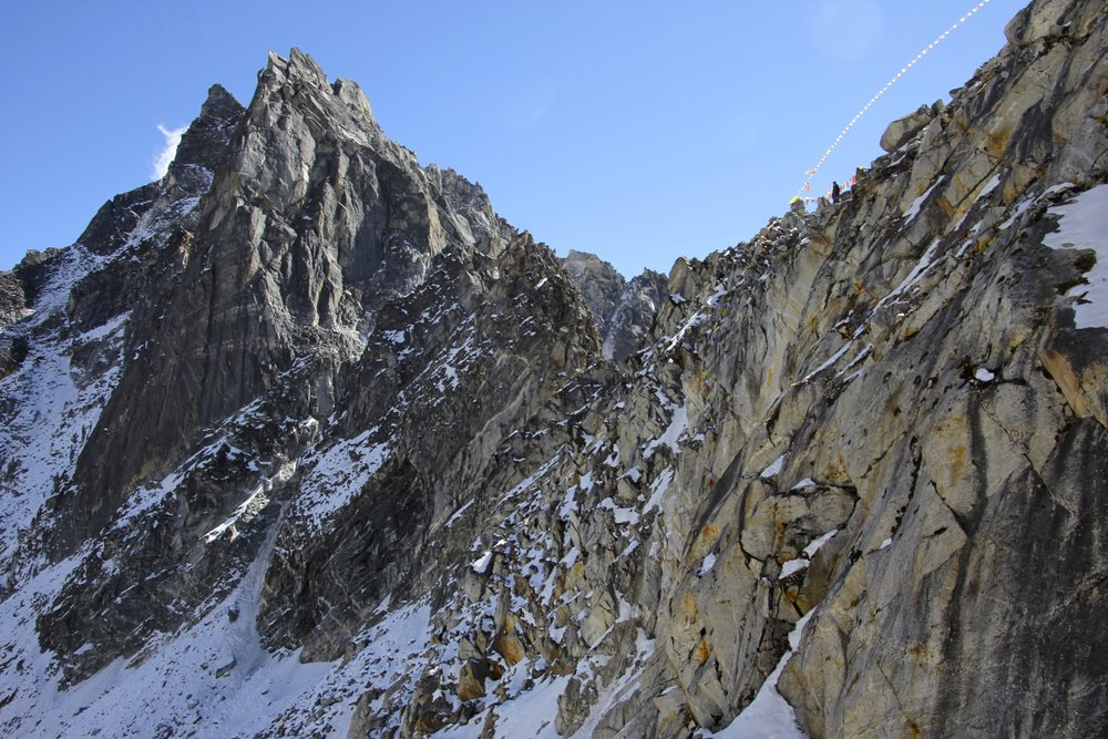 The steep and exposed Ganjala Pass 5,150m