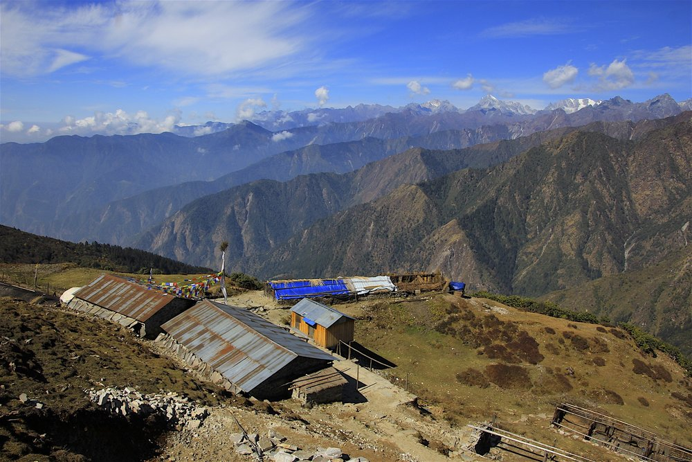 Our final camp before Panch Pokhari. This was one of the most scenic campsites on this trek.