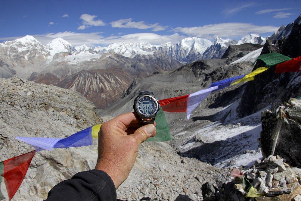 The altitude of Ganjala Pass.