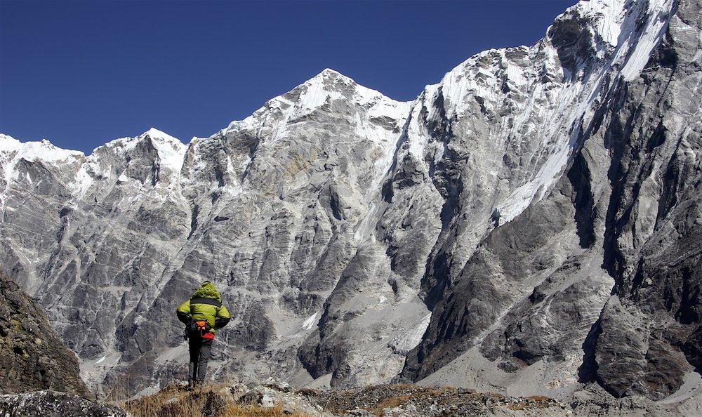 The wall along the Langtang Glacier.