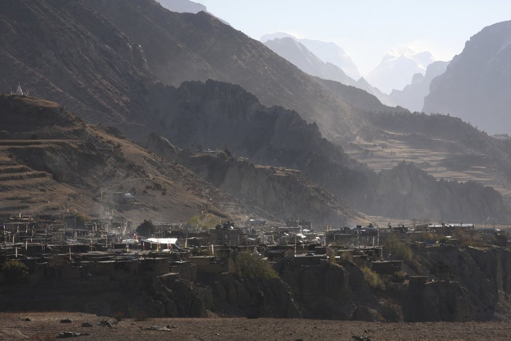 The village of Manang