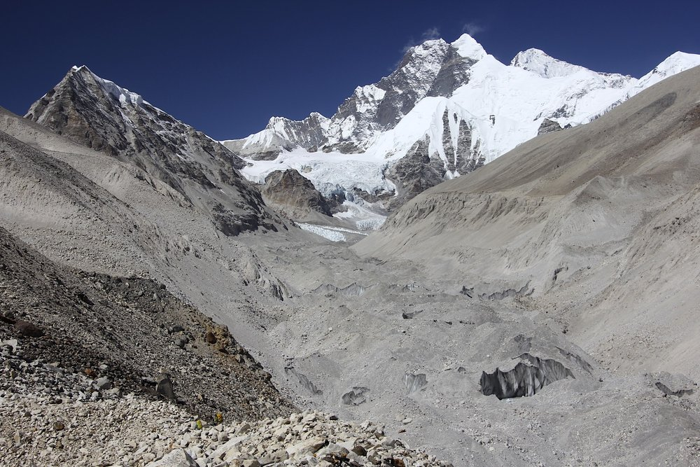 Lhotse, Everest and Barun Glacier